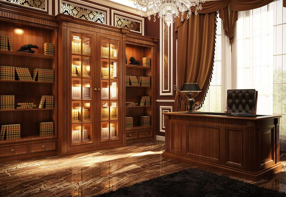 home-library-cabinets